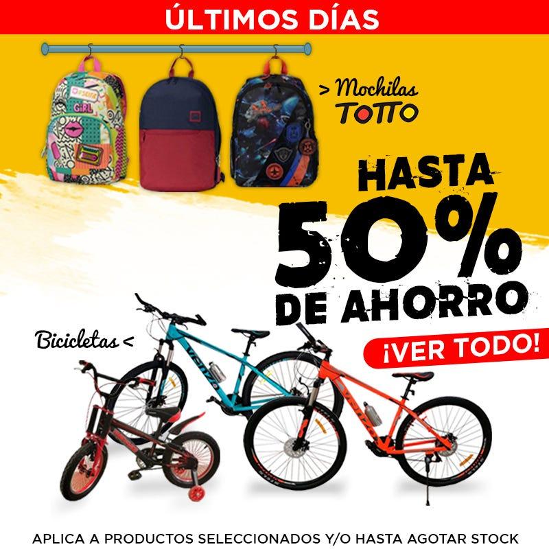 Bicicletas y Mochilas | Dismac electrodomésticos